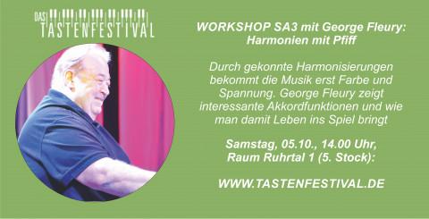 """Workshop """"Harmonien mit Pfiff"""" mit George Fleury, 05.10.2019, TASTENFESTIVAL Herdecke"""