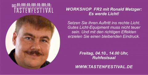 """Workshop """"Es werde Licht"""" mit Ronald Metzger, 04.10.2019, TASTENFESTIVAL Herdecke"""