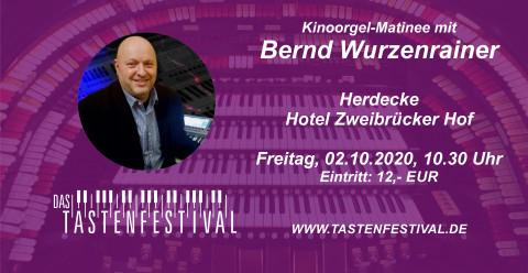 Ticket Kinoorgel-Matinee mit Bernd Wurzenrainer, 02.10.2020, Herdecke - Ruhrfestsaal