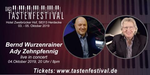Konzertticket Bernd Wurzenrainer + Ady Zehnpfennig, 04.10.2019, Herdecke - Ruhrfestsaal