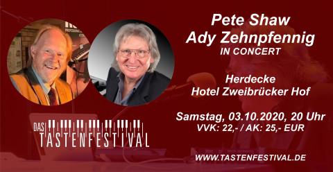Konzertticket Pete Shaw + Ady Zehnpfennig, 03.10.2020, Herdecke - Ruhrfestsaal
