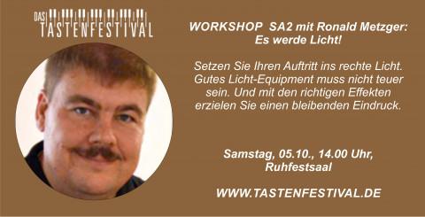 """Workshop """"Es werde Licht"""" mit Ronald Metzger, 05.10.2019, TASTENFESTIVAL Herdecke"""