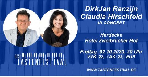 Konzertticket DirkJan Ranzijn & Claudia Hirschfeld, 02.10.2020, Herdecke - Ruhrfestsaal
