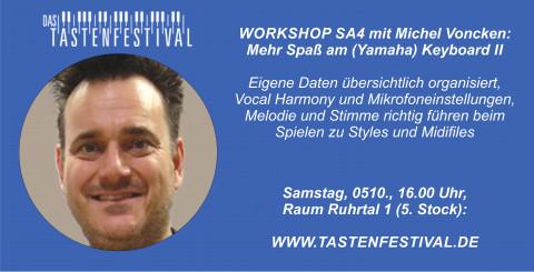 """Workshop """"Mehr Spaß am (Yamaha) Keyboard II"""" mit Michel Voncken, 05.10.2019, TASTENFESTIVAL"""