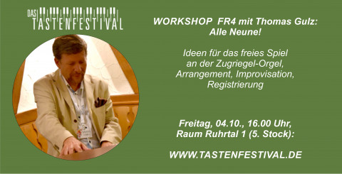 "Workshop ""Alle Neune"", Thomas Gulz, 04.10.2019, TASTENFESTIVAL"